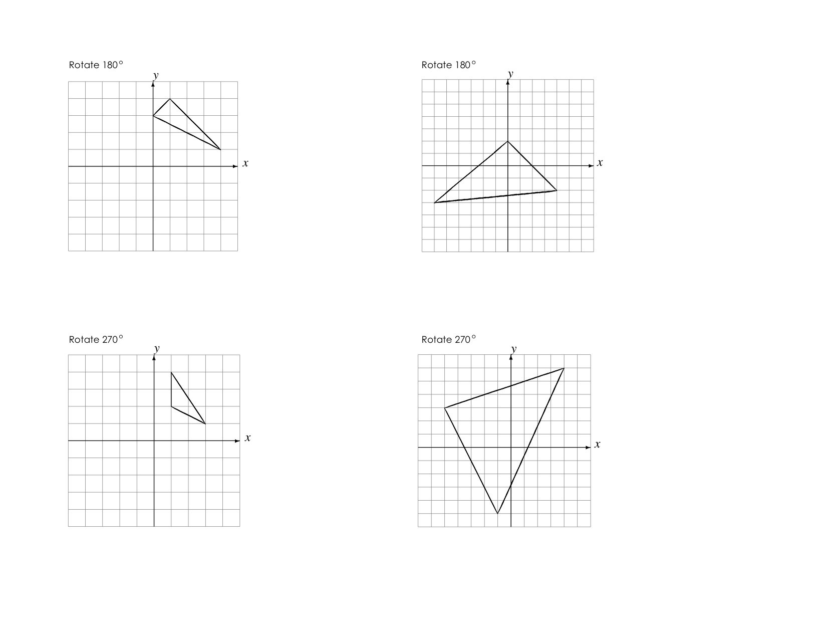 Rotations Worksheet | mrmillermath